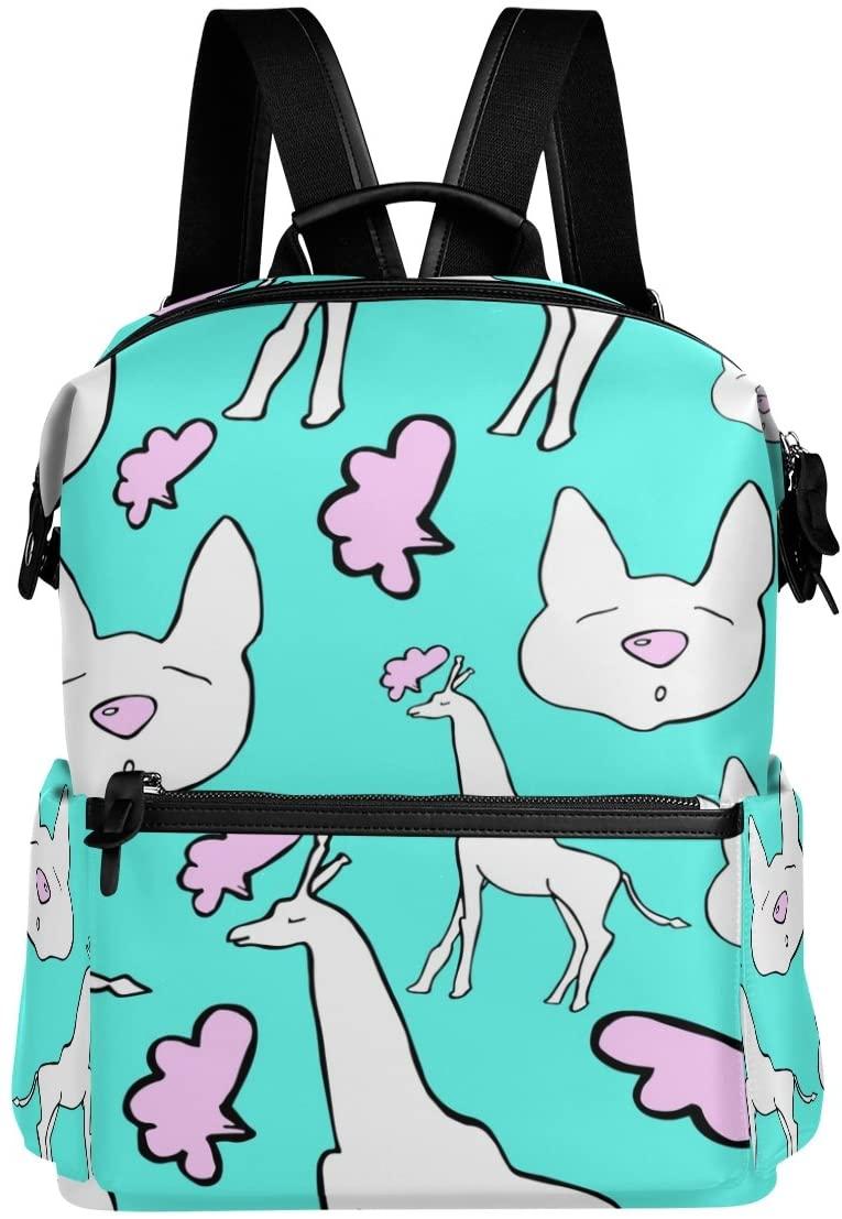 ALAZA Giraffe Casual Backpack Lightweight Travel Daypack Student School Bag