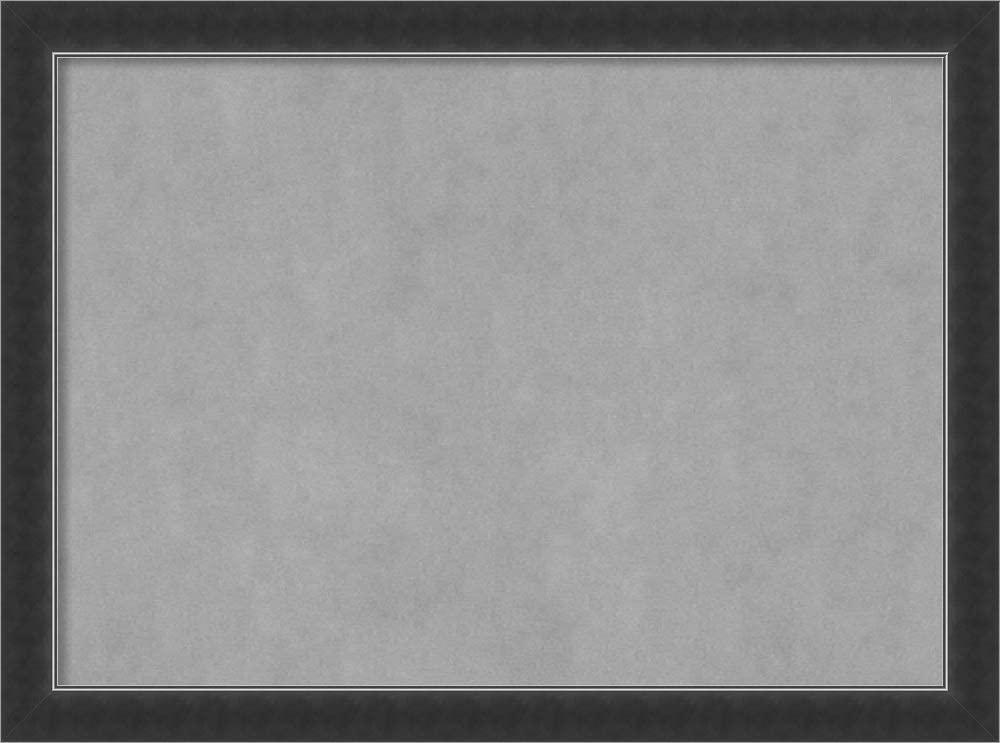 Framed Magnetic Board Bulletin Board   Magnet Board Corvino Narrow Black Frame   Framed Magnetic Boards   31.12 x 23.12 in.