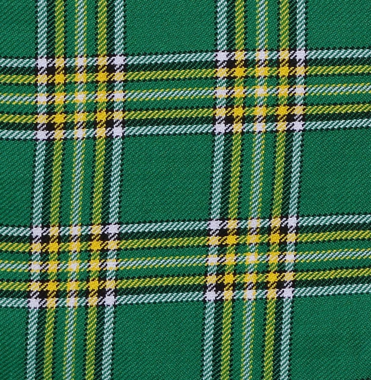 Scottish Acrylic Fabric Tartan Plaid by The Yard 13 Oz Weight (Irish Heritage, 1 Yard)