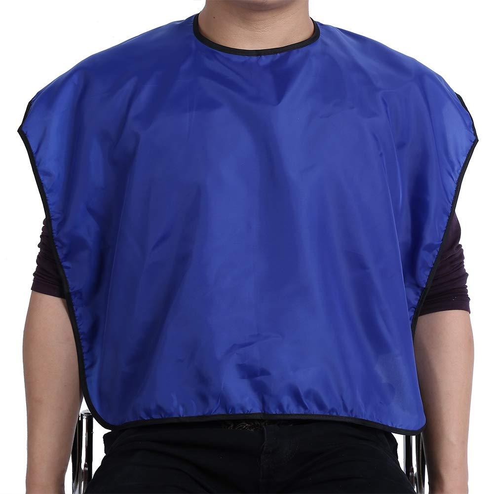 Hairdressing Cape, Waterproof Lightweight Soft Hairdressing Cape Hair Cutting Cloth Barber Gown Apron(Blue)