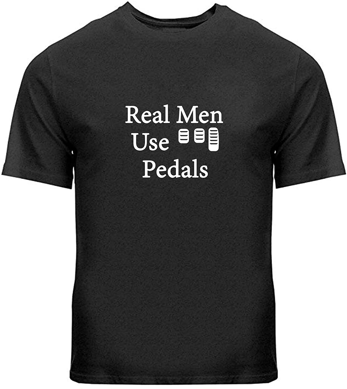 Manual Transmission Adult Unisex Tee T-Shirts Gift Print Car Driver Real Men Use 3 Pedals