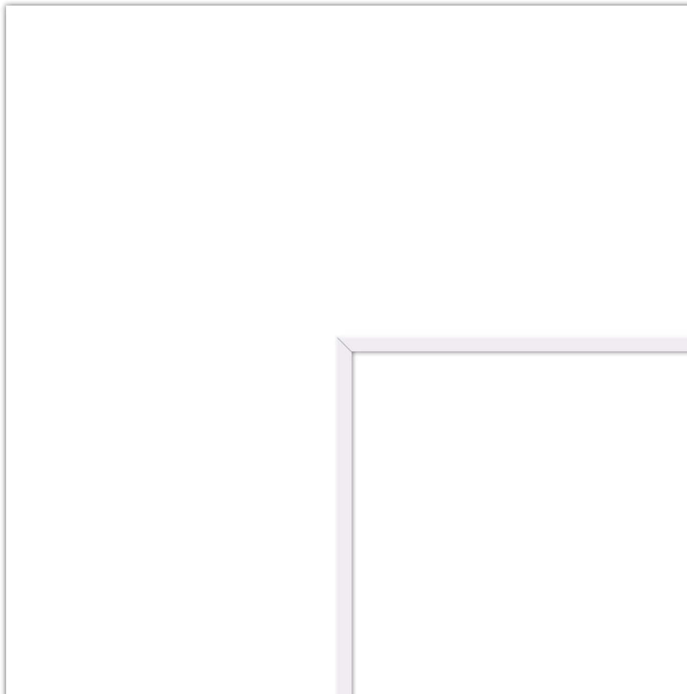 Mat Board Center, Pack of 20, 13x16 for 9x12 White Photo Picture Mats - Acid Free, 4-ply Thickness, White Core - for Pictures, Photos, Framing