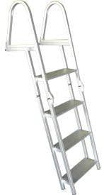 Bearcat 4 Step Aluminum Folding Boat Dock Ladder - L65F (L65F)