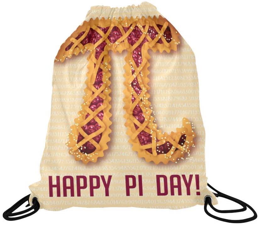 INTERESTPRINT Funny Mathematical Pi Happy Pi Day Cherry Pie Drawstring Bags Bag