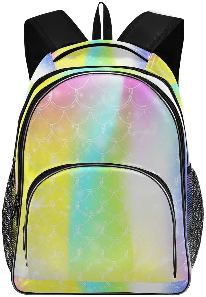 OREZI Schoolbag for Girls Boys,Princess Mermaid Backpack Bookbags Travel Bag Casual Daypack Rucksack for Student Teenagers kid's