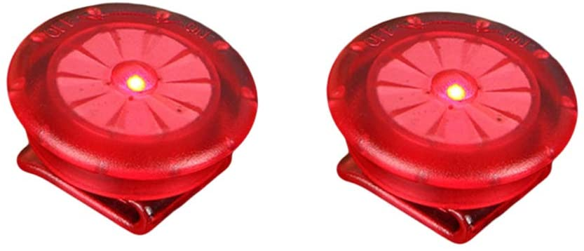 BESPORTBLE LED Safety Light Clips Clip On Strobe Warning Lights for Runing Jogging Night Runners Bikes Walking 2 PCS (Red)