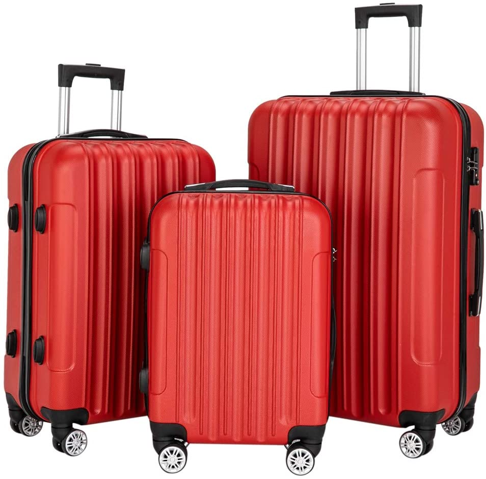 Travel case Spinner Luggage 3-in-1 Multifunctional Large Capacity Traveling Storage Suitcase Luggage Set Red Armour U.S