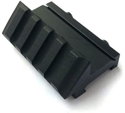 H World Shopping Airsoft Aluminium 45 Degree Offset Single Side 20mm Picatinny Weaver Rail Mount