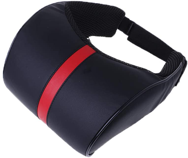 shuoyiersty Car Cushion Neck Support Pillow with Memory Cotton for Car Driving, Travel Kit Black+red