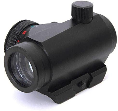 360 TACTICAL 1X25 RED Green Dual Illumination Mini Micro Reflex 5 MOA DOT Sight with Integral Weaver Picatinny Rail