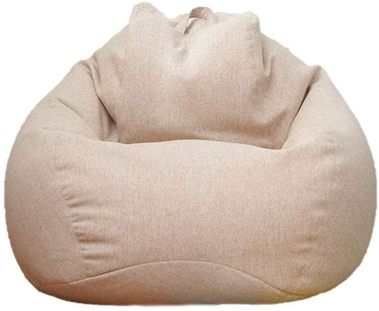 Sofa Bean Bag Slipcover, Removable Lazy Sofa Slipcover, Lazy Lounger Bean Bag Storage Chair Cover, Comfortable Bean Bag Seat Chair Cover for Adults and Kids, 90x110cm