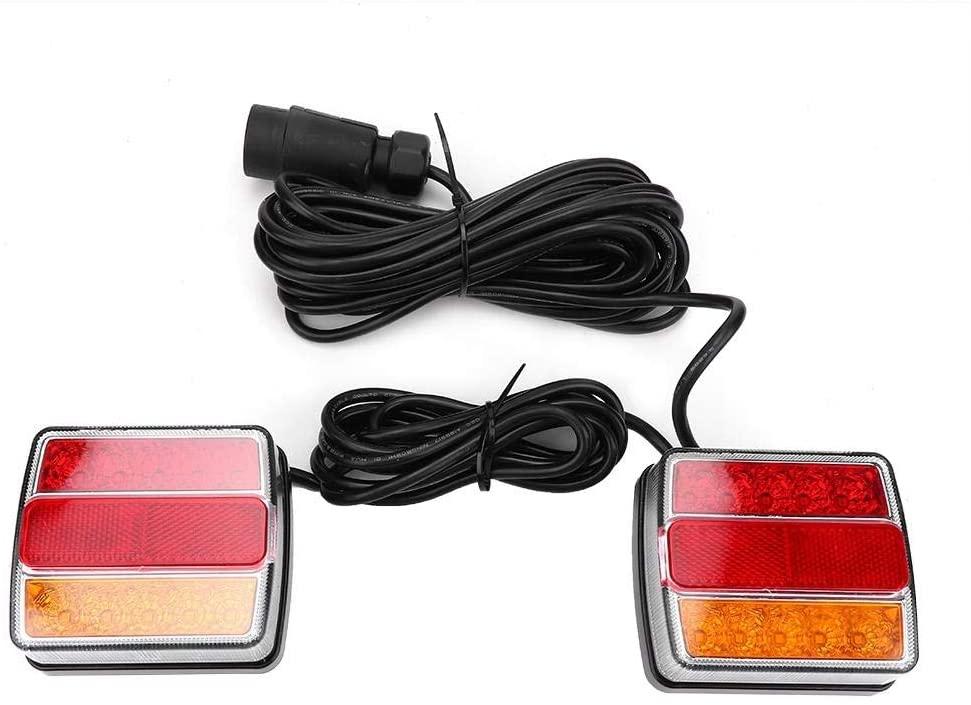 koulate Trailer Light,1 Pair Waterproof Truck Trailer LED Lamp Kit 12V Highlight Truck Tail Light Replacement for Truck Stop Indicator