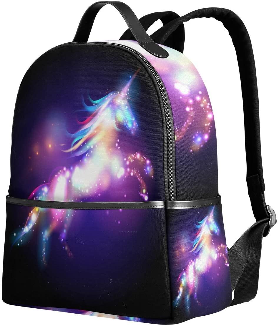 Use4 Galaxy Nebula Unicorn Polyester Backpack School Travel Bag