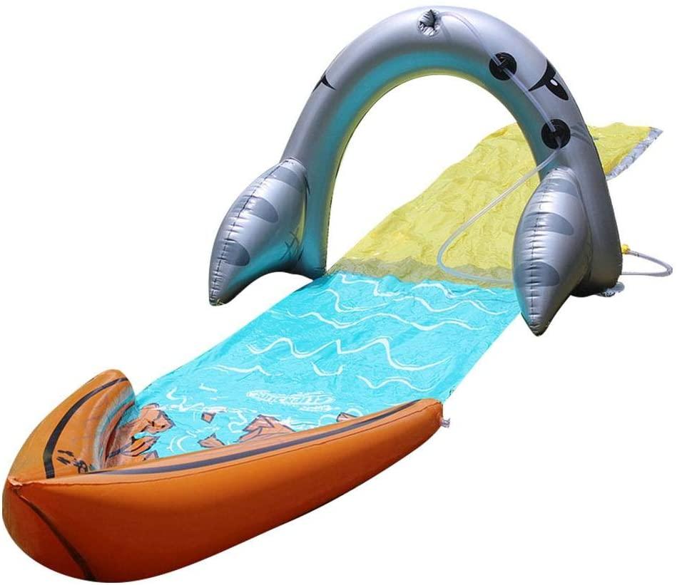 Slip and Slide N Slides for Kids Waterslide Inflatable Water Adults-Water Slide Children Lawn Slide Garden Backyard Water Slide Spray- Sprinkler Toy for Boys Girls Outdoor Water Fun