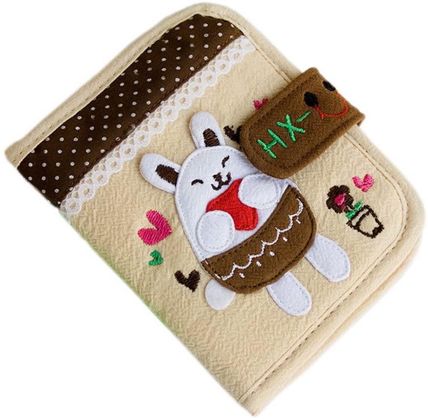 Blancho Bedding [White Bunny] Wallet Purse (4.73.7)
