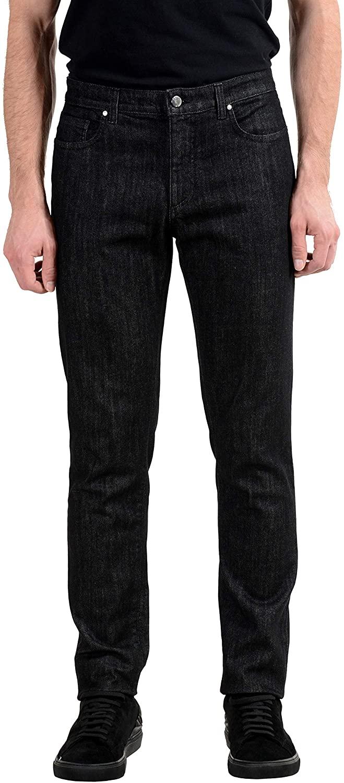 Versace Collection Men's Dark Gray Stretch Straight Leg Jeans Sz US 30 IT 46