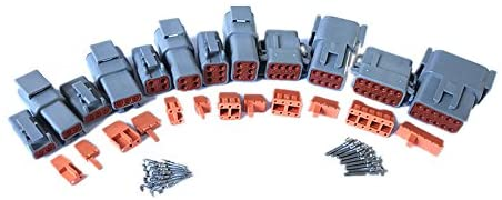 CNKF 1 Sets DTM 2~12 pin gray male female auto connectors with terminals pins
