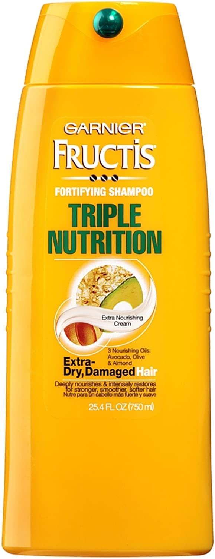 Garnier Fructis Triple Nutrition Extra Nourishing Cream Fortifying Shampoo 25.40 oz (Pack of 3)