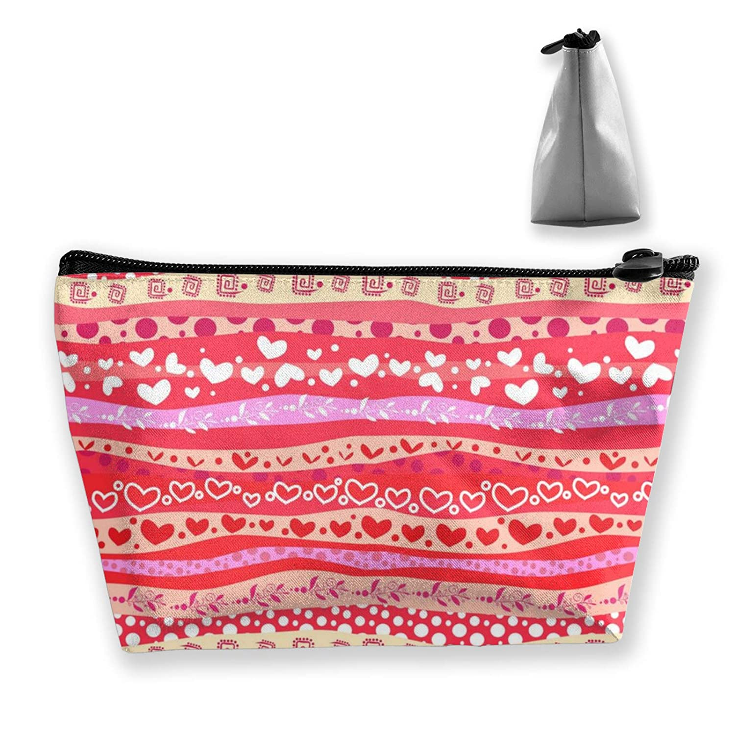 Lazy Makeup Case Love Heart Patterns Clutch Bag Cosmetic Train Case Organizer Large Capacity Carry On Bag Luggage Pouch