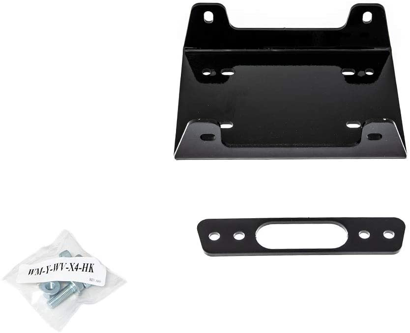 SuperATV Heavy Duty Winch Mounting Plate for Yamaha Wolverine X2 (2019+)