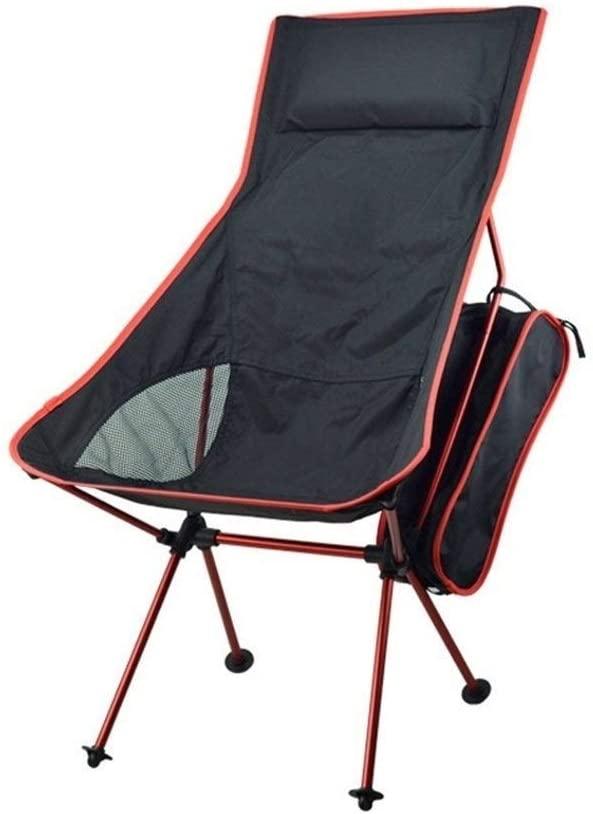 Yuncheng Outdoor Folding Chair Garden Stool Portable Chair - Aluminum Chair Minimalist Portable Moon Chair Outdoor Camping Folding Chair (Color : B)