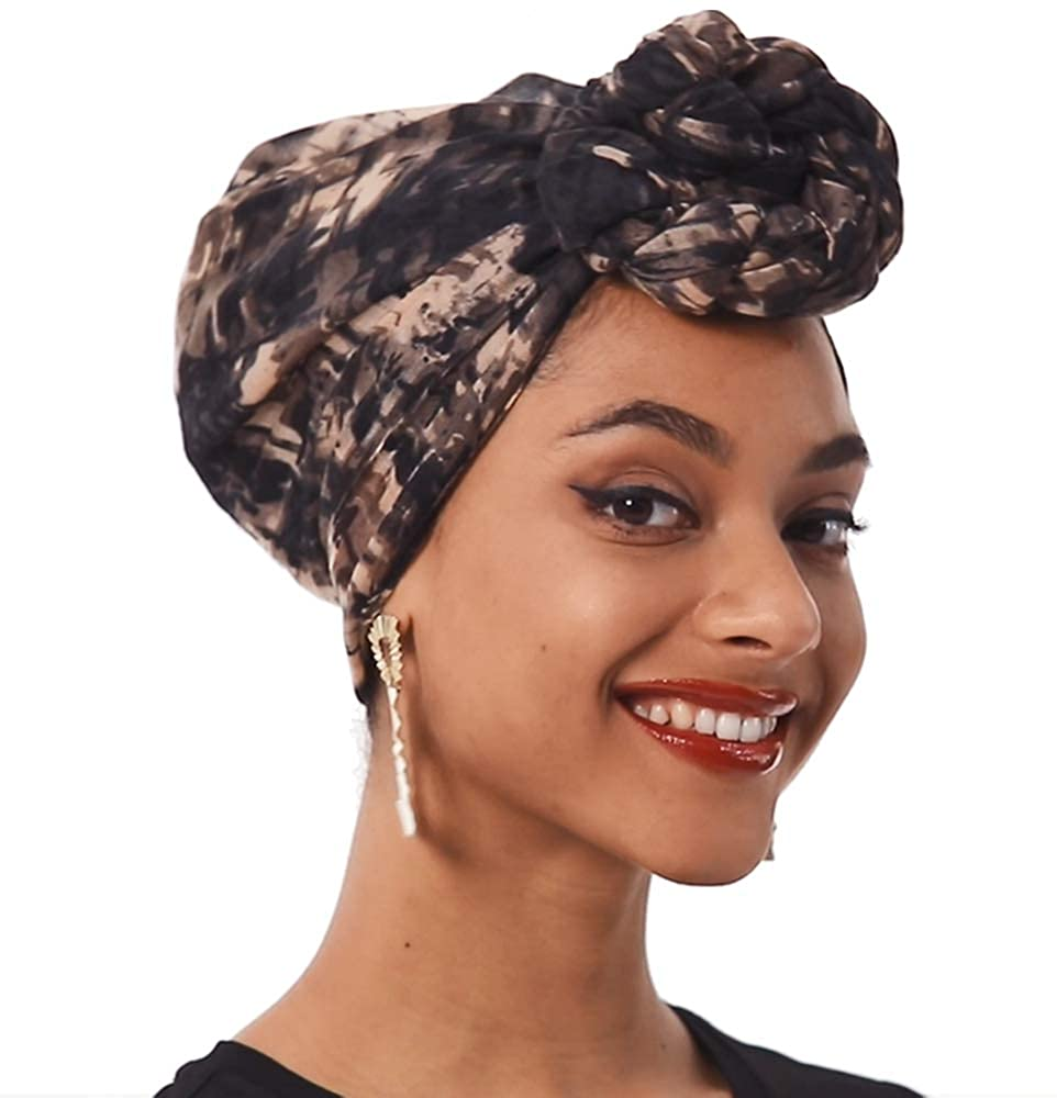 Head Wraps for Women, Head Scarf for Black Women, Tie Dye Hair Wraps for Women African Head Wrap for Women Hair Scarf Wrap
