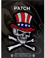 US Skull - Skulls - Iron on or Sew on Embroidered Patch