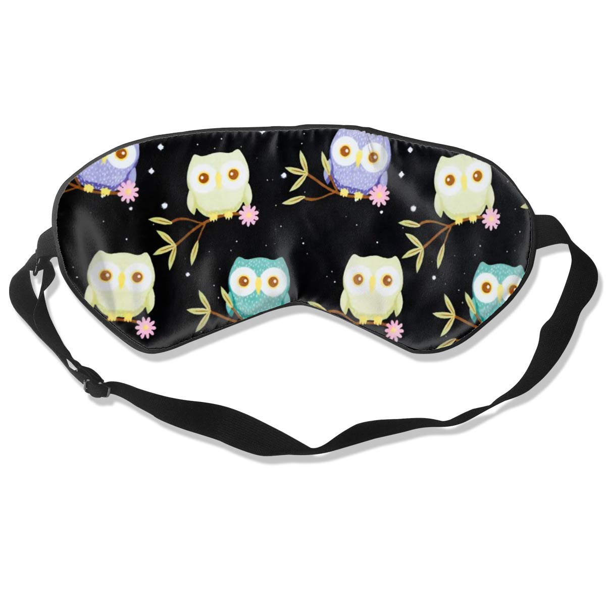 Darkt Owl Sleep Mask Funny Lightweight Blindfold Cover Eyeshade for Women Men Kid with Adjustable Strap Plane Travel Naps Shift Works Games