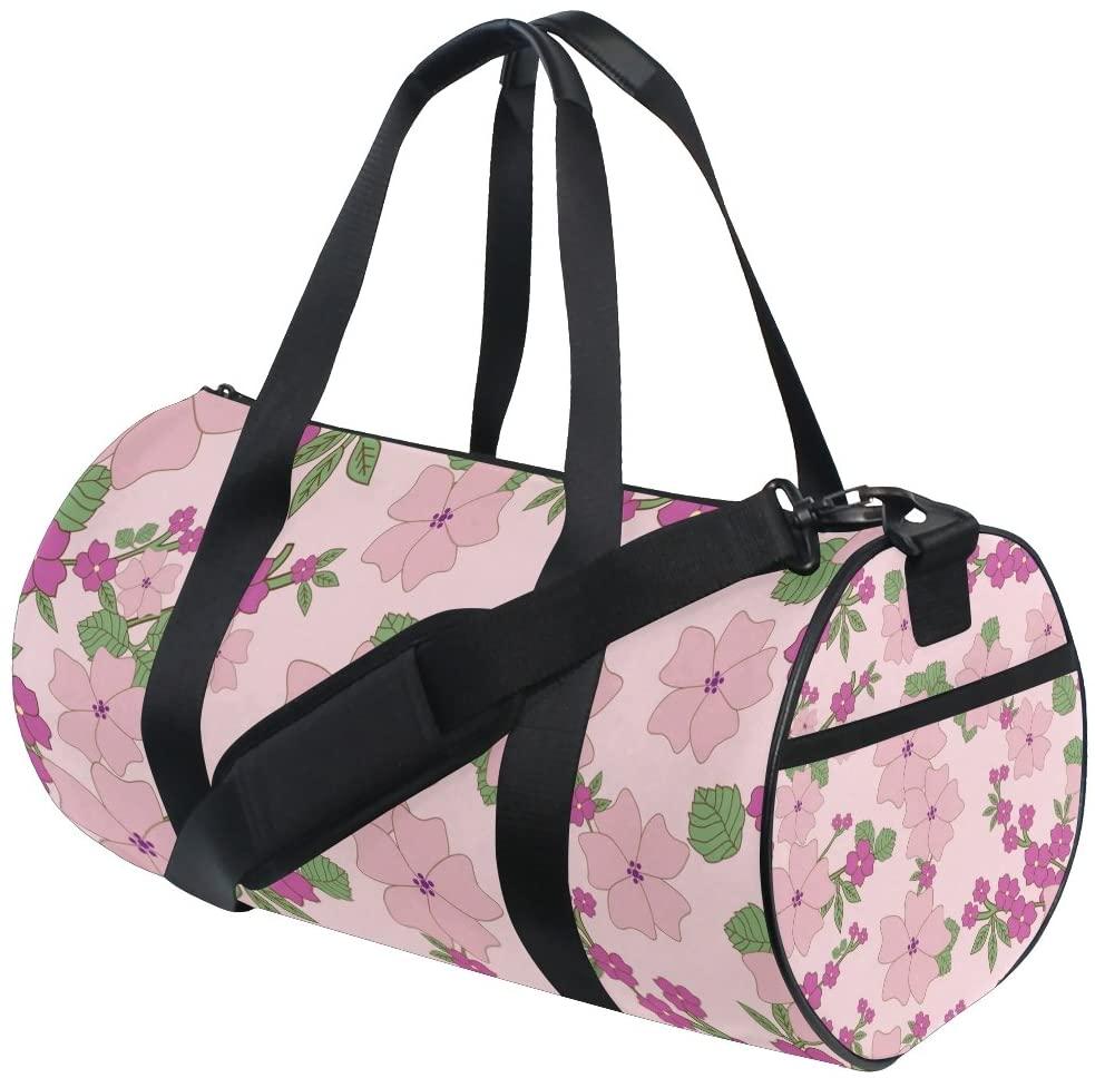 Sports Bag Vintage Floral Holdall Travel Duffel Bag Crossbody Bag Big Luggage for Men and Women