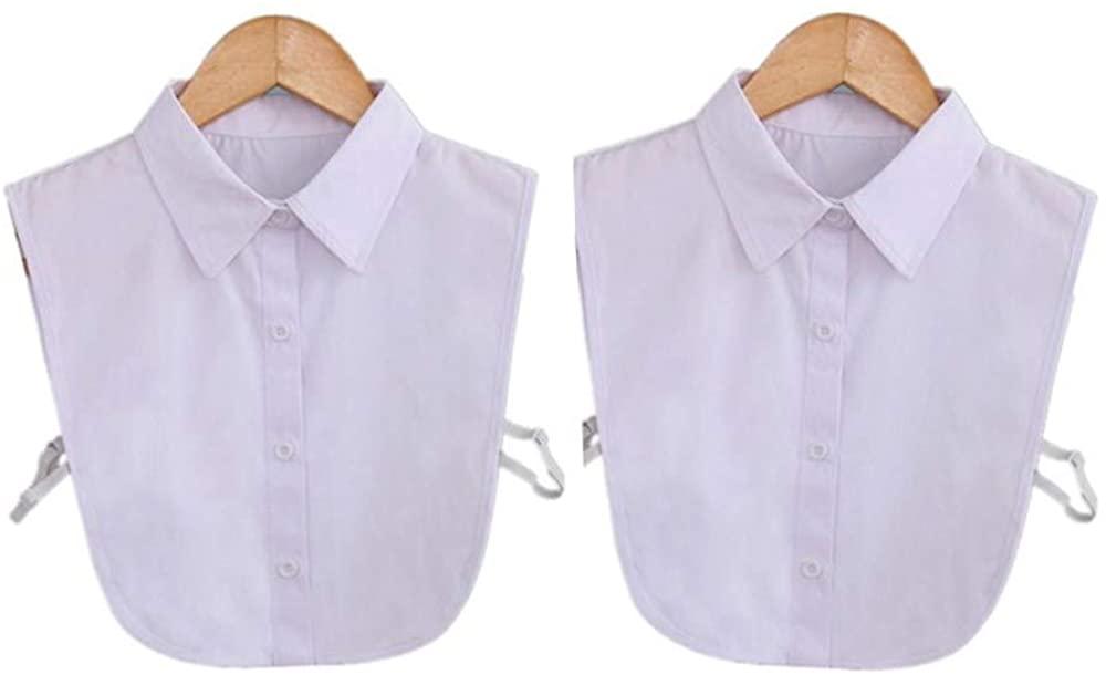 RHSH Fake Collar Detachable,Half Shirts False Collar for Girls and Women,Fake Collar Detachable Blouse Half Shirts 2 Pieces