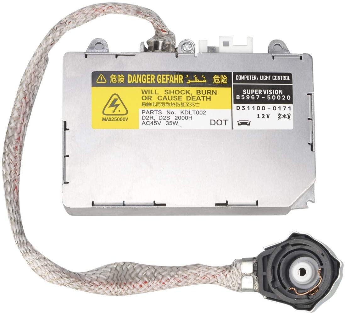 Briteye Replaces D2S D2R HID Xenon Ballast Compatible For Lexus/Toyota/Mazda #DDLT002, 85967-50020, KDLT002, 85967-0E020, 81107-2D020 and More