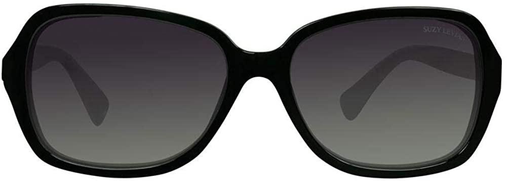 Suzy Levian Women's Black Love Link Polarized Sunglasses
