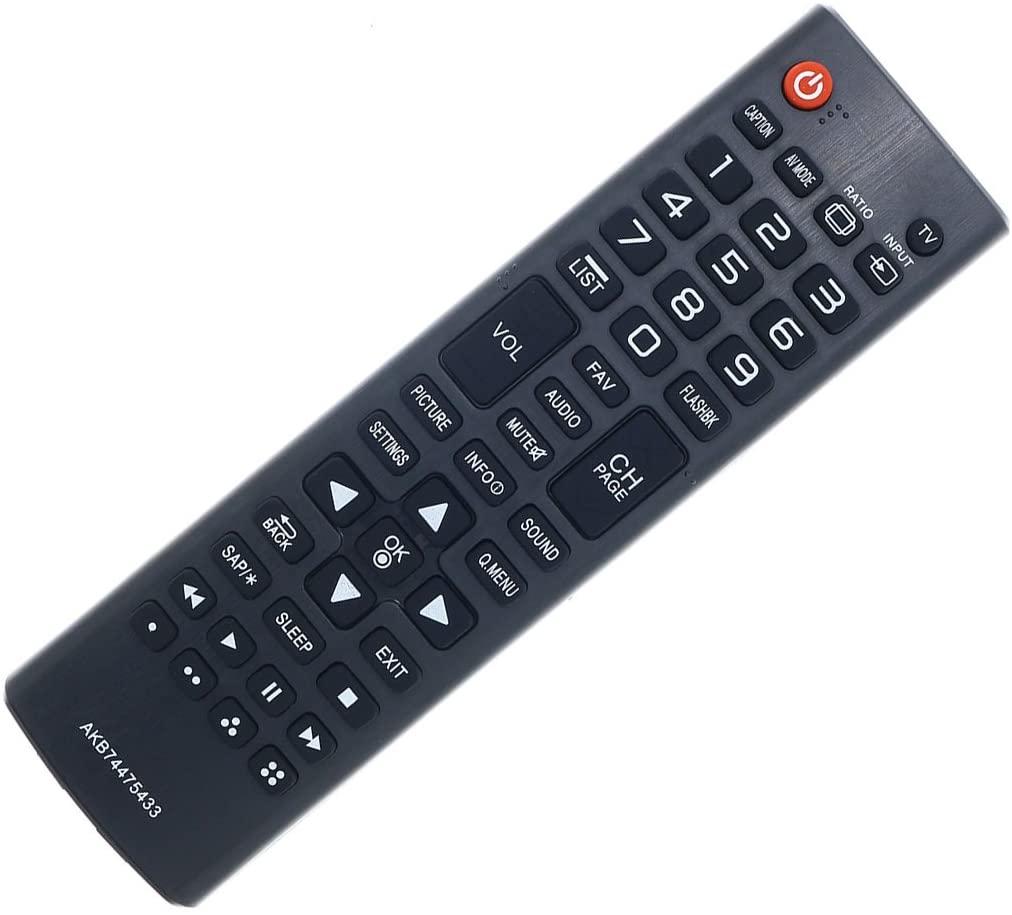 DEHA TV Remote Control for LG UN55D6400RF Television