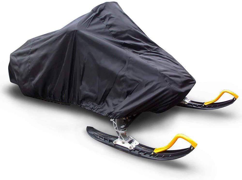 Protective Cover, Outdoor sled Dust Cover, Snowmobile Cover Waterproof/Snowproof Oxford Cloth Material,Black,1455148cm