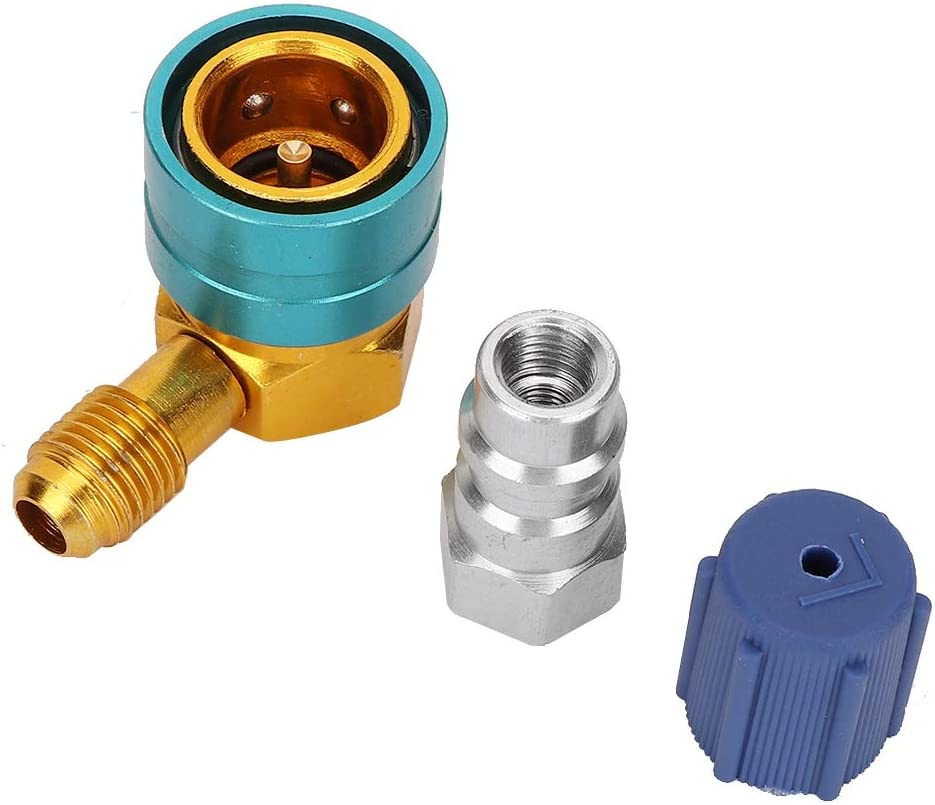 Low Side Quick Adapter Coupler,R1234YF to R134A Low Side Quick Adapter Coupler Car Air-conditioning Fitting