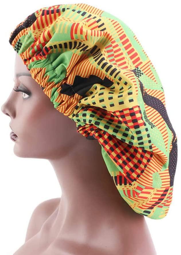 KESYOO Wide Band Satin Bonnet Night Sleep Cap Sleeping Head Cover Comfortable Night Sleep Hat Soft Hair Loss Cap for Women Girls