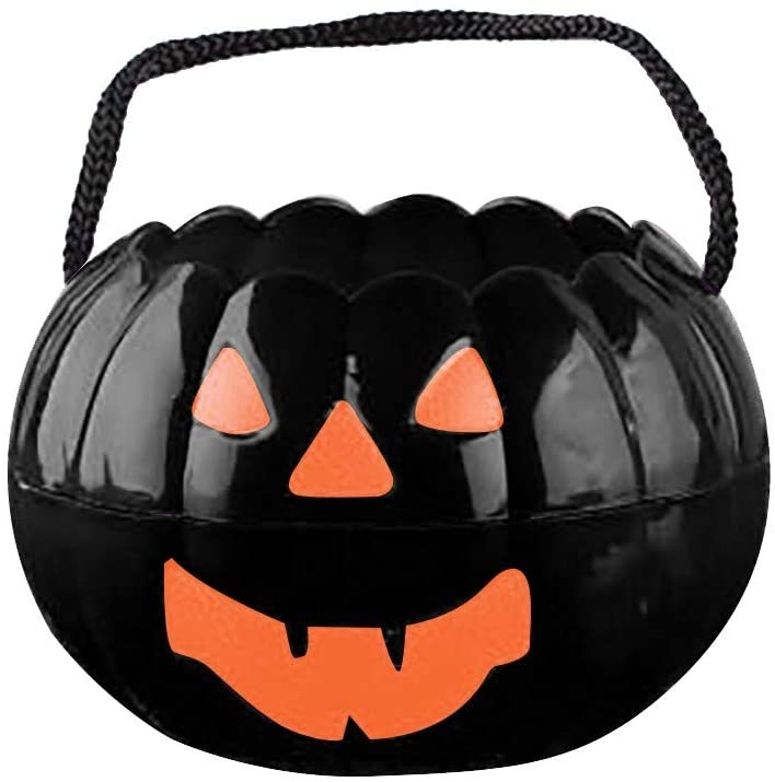 Halloween Pumpkin Candy Bucket Portable Pumpkin Bucket Children Trick or Treat Bags for Party Favors