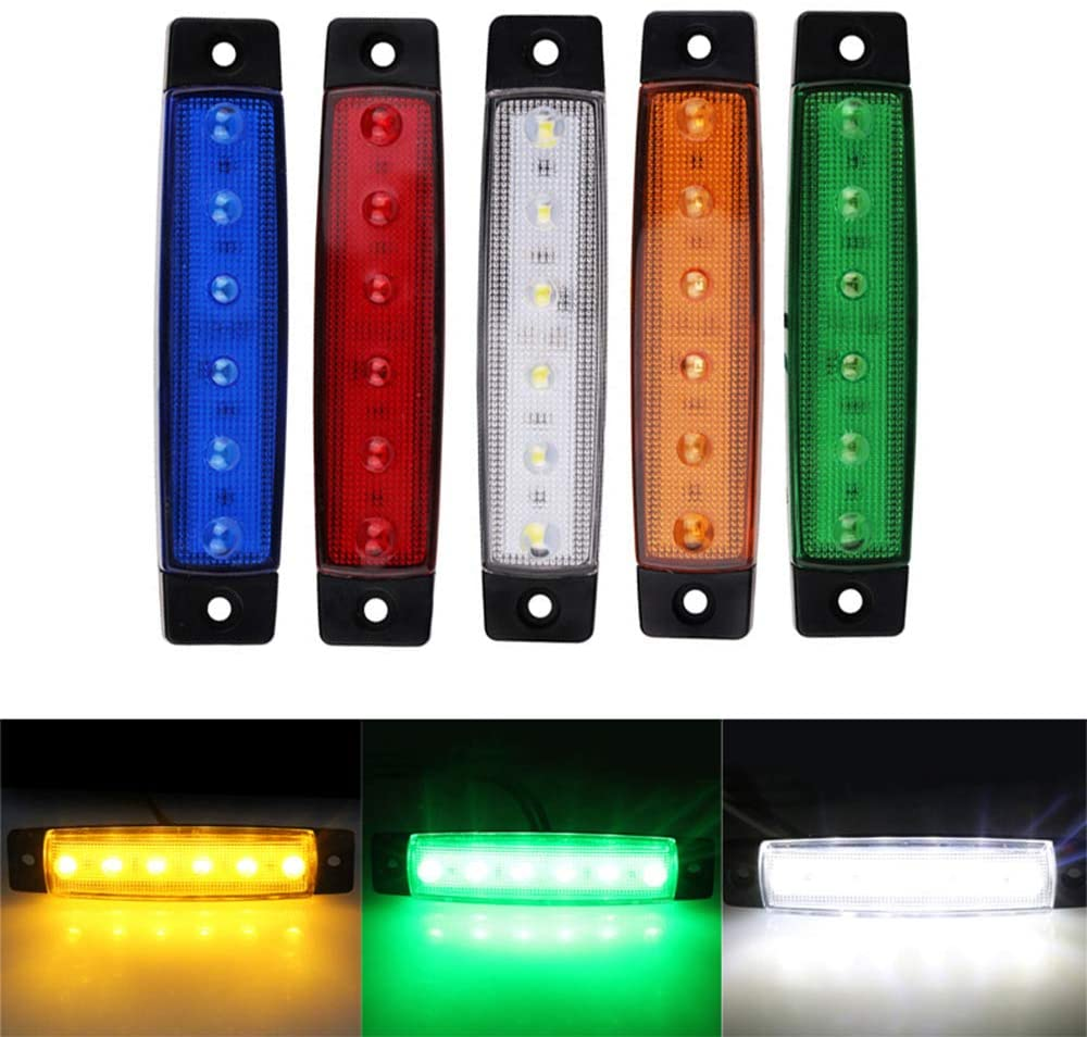 Led Side Lights,Maso 12V Trailer Marker LED Light for Cargo Truck Van White Lighting Pack of 10
