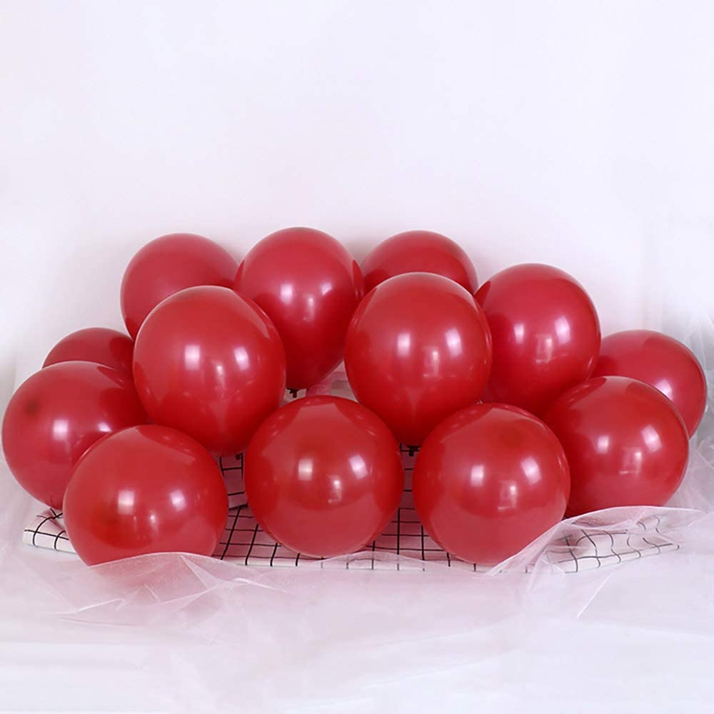 5 inch Ruby Red Balloons Small Ruby Red Balloons Party Latex Balloons Quality Helium Balloons, Party Decorations Supplies Balloons, Pack of 120