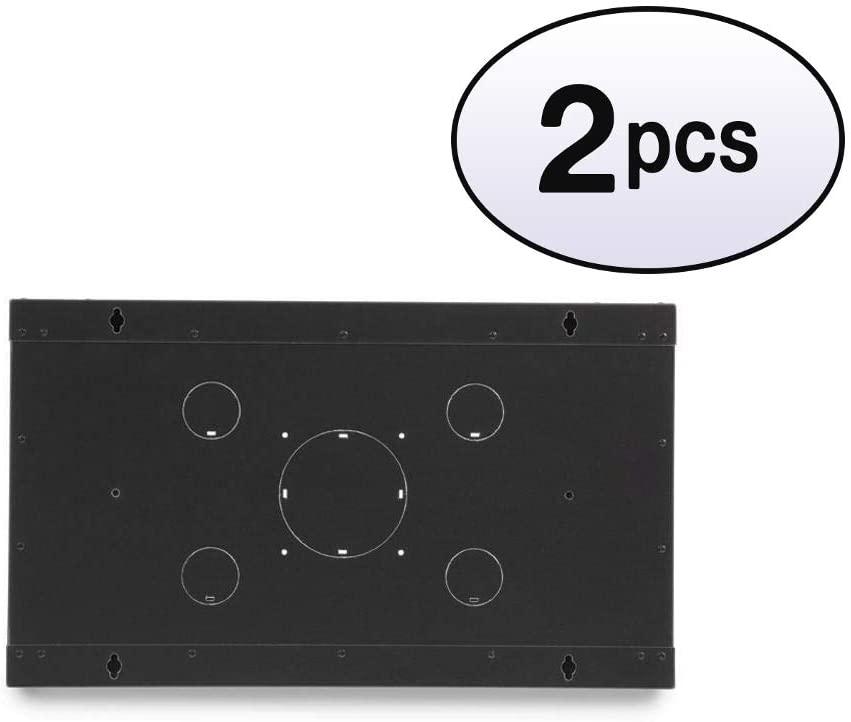GOWOS (2 Pack) Rackmount Fixed Wall Mount Cabinet, Solid Door, 6U