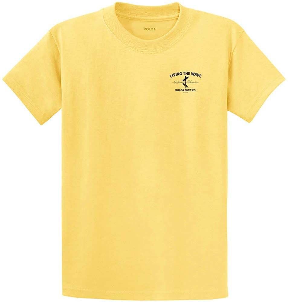 Koloa Surf Mens Surfer on The Beach Logo Heavyweight Tee-2XL-Yellow/b