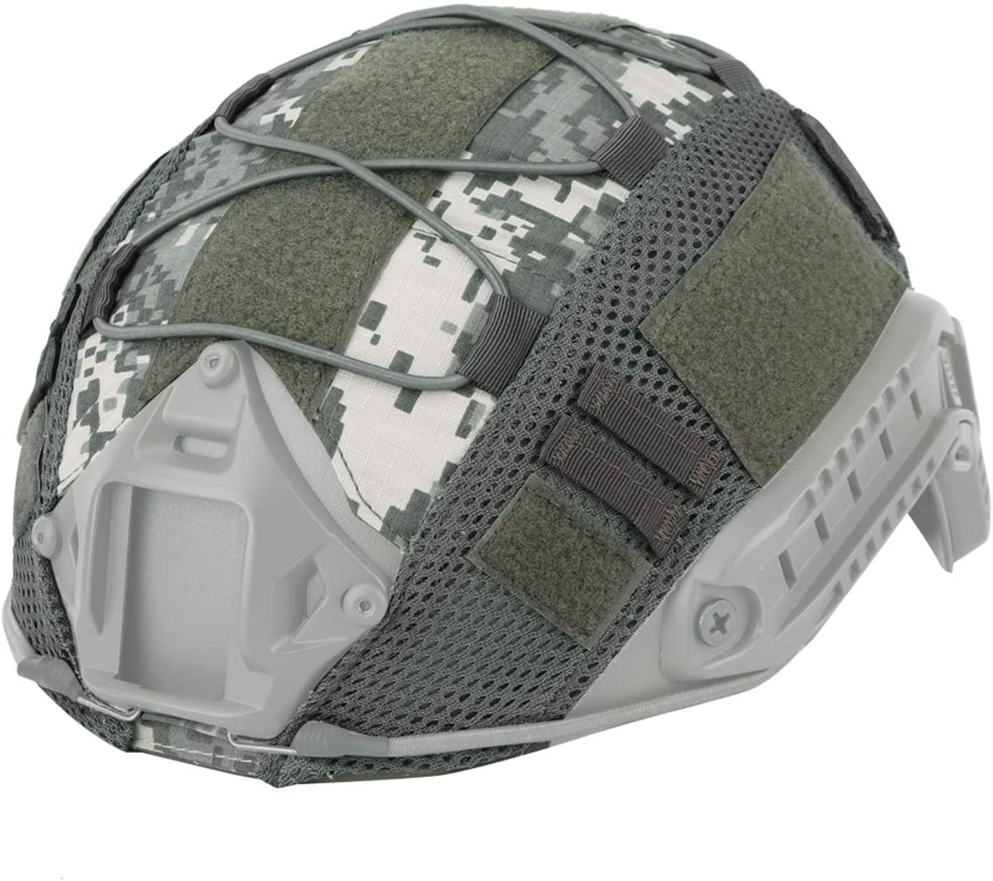 Elitezip Tactical Helmet Cover, Camouflage Military Helmet Cover with Nylon Helmet Cloth