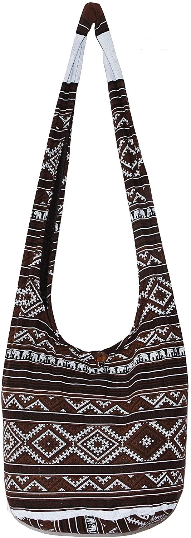 Elephant Hippie Bohemian Shoulder Hobo Boho Cross Body Bag 37 Inch