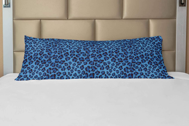Lunarable Animal Print Body Pillow Case Cover with Zipper, Leopard Skin Animal Print Design Creative Contemporary Artwork, Decorative Accent Long Pillowcase, 21