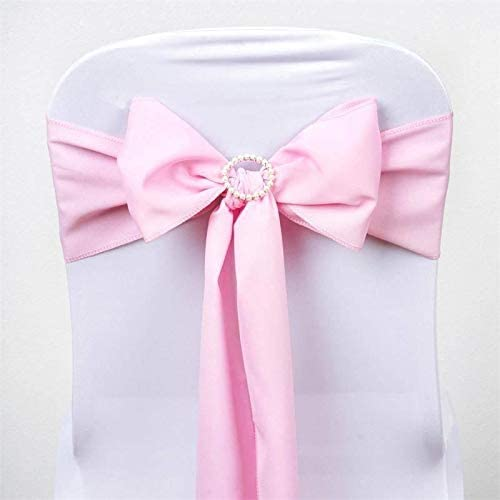 Efavormart 5 PCS Pink Polyester Chair Sashes Tie Bows for Wedding Events Decor Chair Bow Sash Party Decor Supplies - 6x108