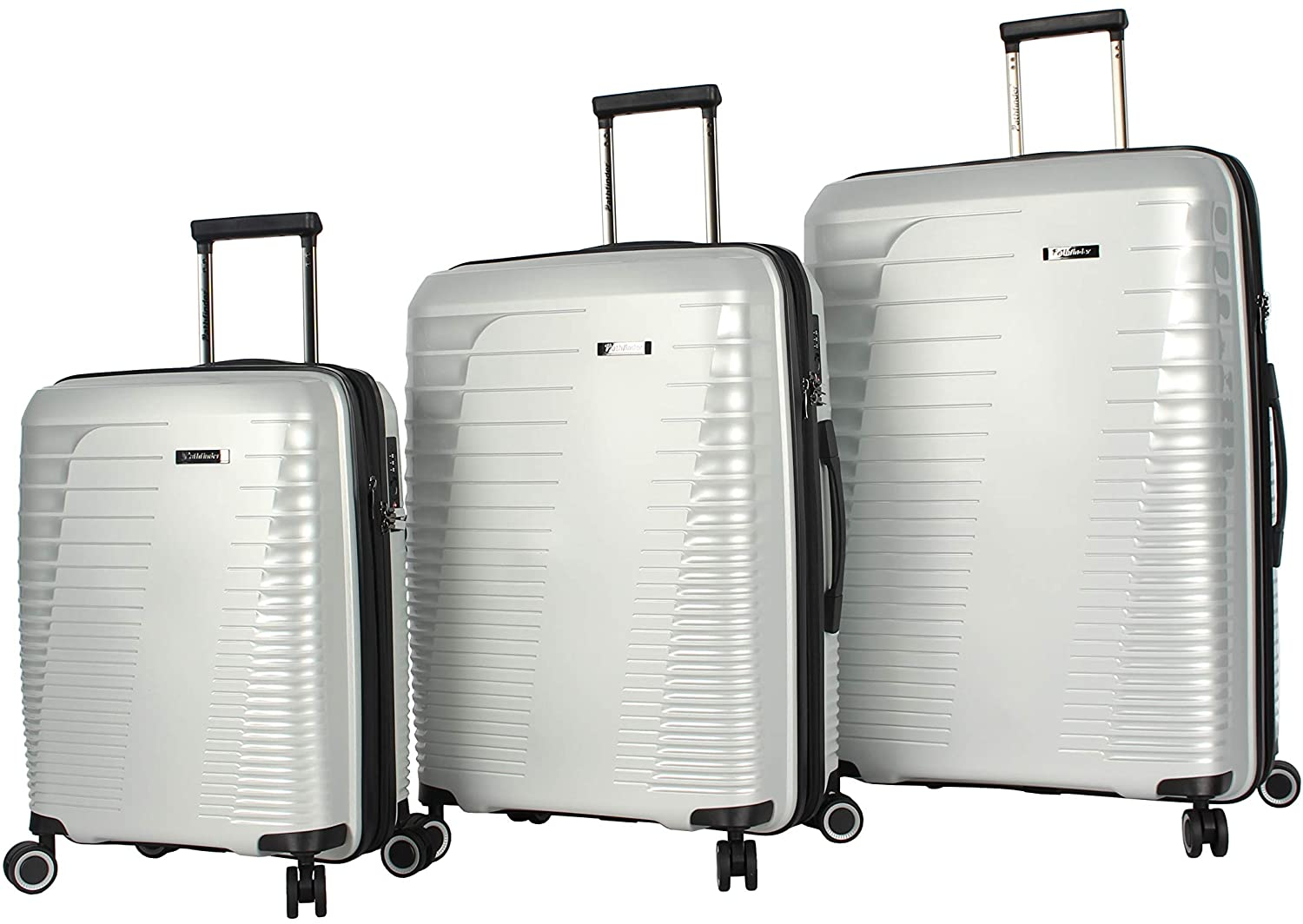 Pathfinder Nova Checked Luggage set 3 piece Collection - Expandable Scratch Resistant (ABS + PC) Hardside Suitcase 20/24/28 Inch - Designer Lightweight Bag with 8-Rolling Spinner Wheels