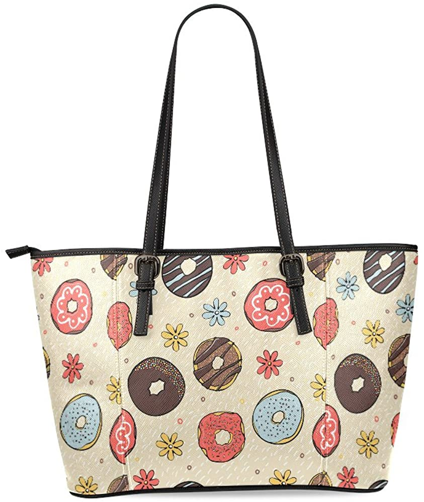 INTERESTPRINT Music Icon Black White Womens Leather Tote Shoulder Bags Handbags