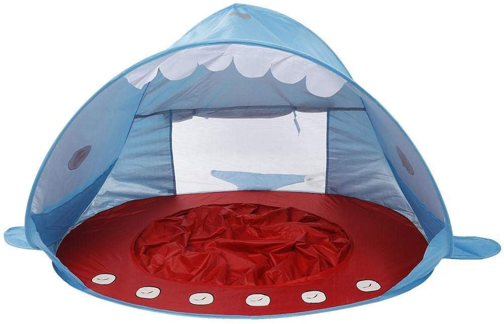 REOUG Summer Beach Tent Portable Outdoor Anti-UV Child Swimming Pool Play House for Baby Kids