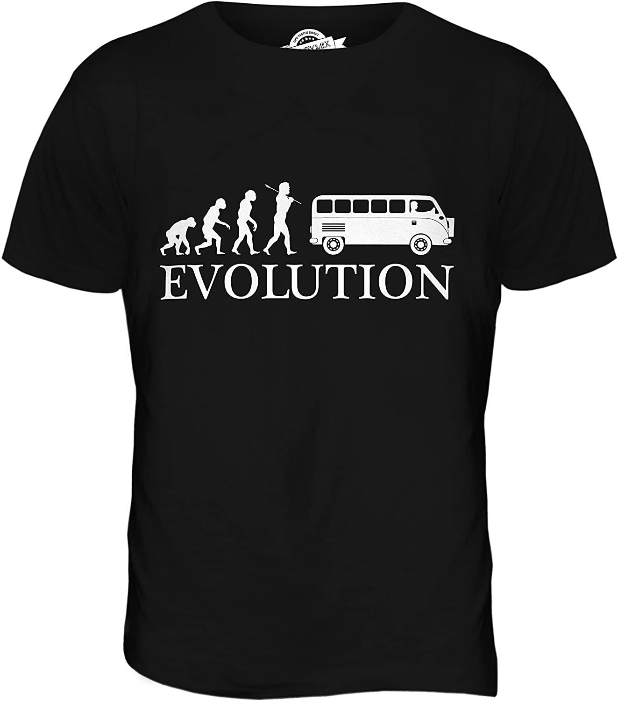 CandyMix Men's Camper Van Evolution of Man T Shirt T-Shirt Top