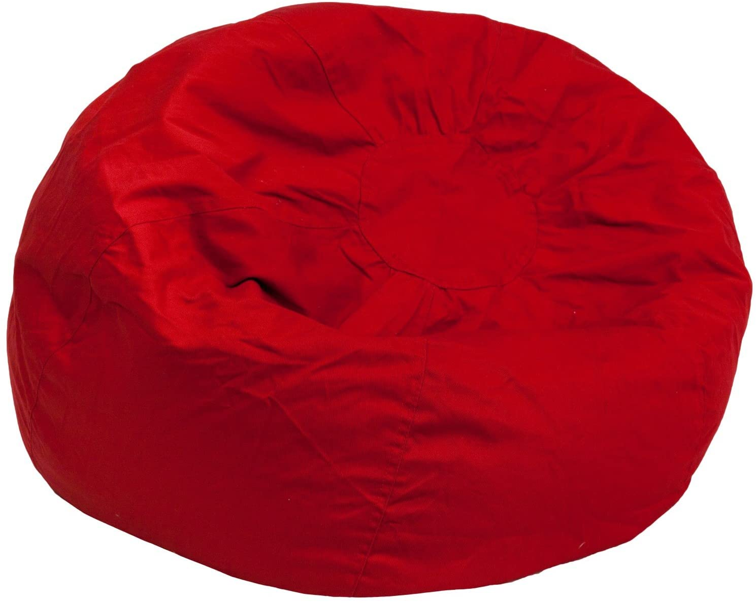 BBD Oversized Solid Red Bean Bag Chair